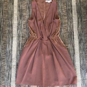 BCBGeneration Almond Velvet Mini Dress XS